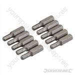 Hex Cr-V Screwdriver Bits 10pk - Hex 4mm