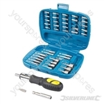 Ratchet Screwdriver Bit & Socket Set 45pce - 45pce