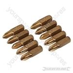 Phillips Gold Screwdriver Bits 10pk - PH2