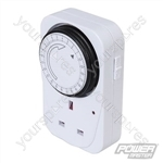 Plug-In Mechanical Timer 230V - 24 Hour