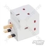 3-Gang Socket Adaptor 240V - 13A 240V
