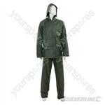"""Rain Suit Green 2pce - XL  76 - 134cm (30 - 53"""")"""