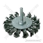 Rotary Steel Twist-Knot Wheel - 75mm