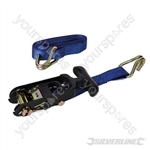Rubber-Handled Ratchet Tie Down Strap J-Hook - 3m x 38mm - Rated 500kg Capacity 1000kg