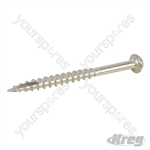 "S/Steel Pocket-Hole Screws Washer Head Coarse - No.10 2-1/2"" 50pk"