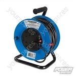Cable Reel 230V Freestanding - 4-Gang 25m