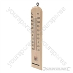 Wooden Thermometer - -40° to +50°C