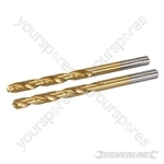 HSS Titanium-Coated Drill Bits 2pk - 6.0mm