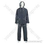 """Rain Suit Blue 2pce - XL  76 - 134cm (30 - 53"""")"""