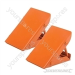 Folding Steel Wheel Chocks - Pair