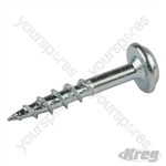"Zinc Pocket-Hole Screws Washer Head Coarse - No.8 x 1"" 100pk"