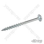 "Zinc Pocket-Hole Screws Washer Head Coarse - No.8 x 2"" 50pk"