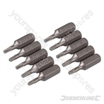 T10 Cr-V Screwdriver Bits 10pk - T10