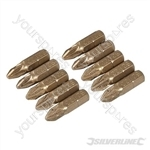 Pozidriv Diamond Screwdriver Bits 10pk - PZ2