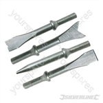 Air Hammer Chisel Set - Chisels 4pce