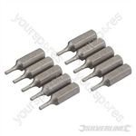 Hex Cr-V Screwdriver Bits 10pk - Hex 2mm