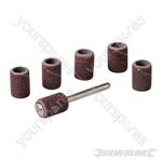 "Rotary Tool Drum Sanding Set 7pce - 6.35mm (1/4"")"