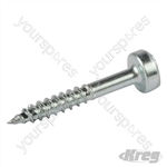 "Zinc Pocket-Hole Screws Pan Head Fine - No.6 x 3/4"" 100pk"