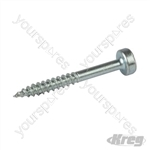 "Zinc Pocket-Hole Screws Pan Head Fine - No.6 x 1-1/4"" 100pk"
