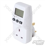 Mains Plug-In Power Consumption Monitor 230V - UK - 13A