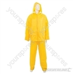 "Rain Suit Yellow 2pce - XL  76 - 134cm (30 - 53"")"