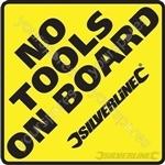 Vehicle Window Stickers - No Tools on Board' 10pk