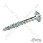 "Zinc Pocket-Hole Screws Washer Head Fine - No.7 x 1-1/4"" 500pk"