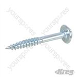 "Zinc Pocket-Hole Screws Washer Head Fine - No.7 x 1-1/4"" 250pk"