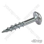 "Zinc Pocket-Hole Screws Washer Head Coarse - No.8 x 1"" 1200pk"