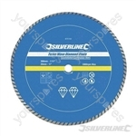Turbo Wave Diamond Blade - 300 x 20mm Castellated Continuous Rim