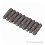 Hex Cr-V Screwdriver Bits 10pk - Hex 6mm