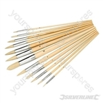 Artists Paint Brush Set 12pce - Pointed Tips