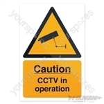 CCTV In Operation Sign - 200 x 300mm Rigid