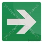 Straight Arrow Sign - 150 x 150mm Self-Adhesive