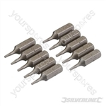 T5 Cr-V Screwdriver Bits 10pk - T5