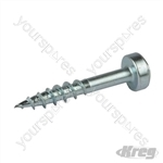 "Zinc Pocket-Hole Screws Pan Head Coarse - No.7 x 1"" 100pk"