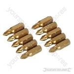 Pozidriv Gold Screwdriver Bits 10pk - PZ1