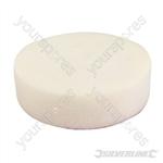Hook & Loop Foam Polishing Head - 150mm Firm White