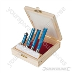 "Kitchen Router Bit Set 4pce - 1/2"" / 1/4"""