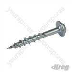 "Zinc Pocket-Hole Screws Washer Head Coarse - No.8 x 1-1/4"" 100pk"