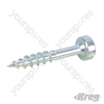 "Zinc Pocket-Hole Screws Pan Head Coarse - No.7 x 1"" 250pk"