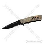 Folding Camouflage Pocket Knife - 195mm