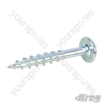 "Zinc Pocket-Hole Screws Washer Head Coarse - No.8 x 1-1/4"" 250pk"