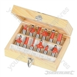 "1/2"" TCT Router Bit Set 12pce - 1/2"""