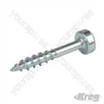 "Zinc Pocket-Hole Screws Pan Head Coarse - No.7 x 1"" 1200pk"