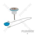 "Strainer Waste with Plug & Chain - 1-1/4"""