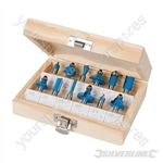 "1/4"" TCT Router Bit Set 12pce - 1/4"""