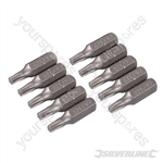 T20 Cr-V Screwdriver Bits 10pk - T20