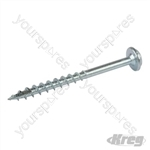 "Zinc Pocket-Hole Screws Washer Head Coarse - No.8 x 2"" 250pk"