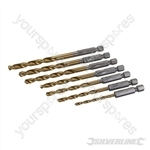 Hex Shank Drill Bit Set 7pce - 3 - 6.5mm